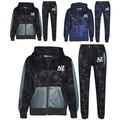 A2Z Trendz Kids Tracksuit Boys Girls Designer's A2Z Project Camouflage Print Hoodie & Botom Jogging Suit 7 8 9 10 11 12 13 Years