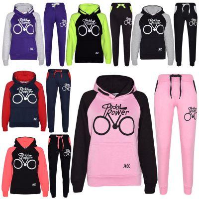 A2Z Trendz Kids Tracksuit Boys Girls Designer's Pedal Power Print Hoodie & Botom Jogging Suit Joggers 7 8 9 10 11 12 13 Years