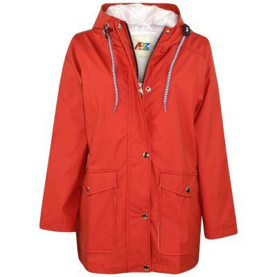 A2Z Trendz Kids Girls Boys PU Raincoat Jackets Designer's Red Windbreaker Waterproof Cagoule Hooded Rainmac Shower Resistant Coats Age 5 6 7 8 9 10 11 12 13 Years