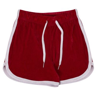 Kids Girls Contrast Taped Hot Shorts