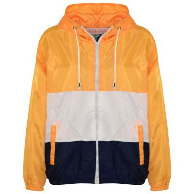 A2Z Trendz Kids Girls Boys Windbreaker Jackets Designer's Contrast Panel Mustard Hooded Light Weight Waterproof Kagoul Rain Mac Raincoat Age 5 6 7 8 9 10 11 12 13 Years