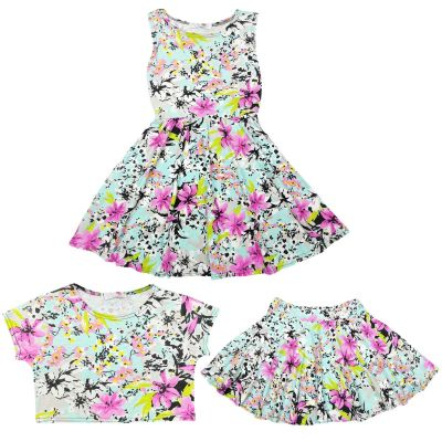 A2Z Trendz Kids Girls Crop Tops Designer's Stylish Party Fashion Skater Skirt Trendy Fashion Skater Dress Crop Tops New Age 7 8 9 10 11 12 13 Years