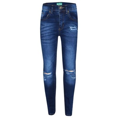 A2Z Trendz Girls Stretchy Jeans Kids Blue Denim Ripped Pants Fashion Frayed Trousers Jeggings Age 5 6 7 8 9 10 11 12 13 Years