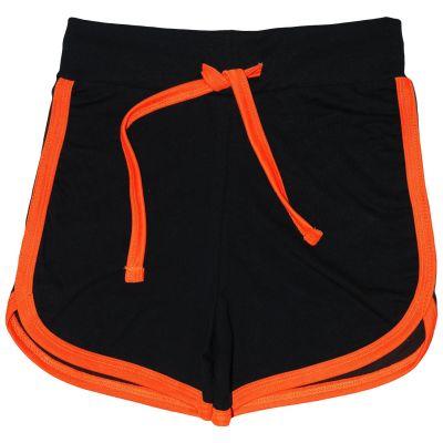 A2Z Trendz Kids Girls Shorts 100% Cotton Gym Dance Sports Trendy Fashion Black & Neon Orange Summer Hot Short Running Pants New Age 5 6 7 8 9 10 11 12 13 Years