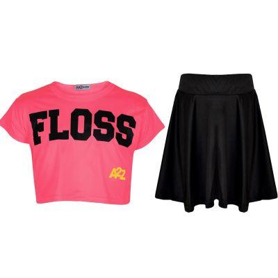 A2Z 4 Kids/® Girls Top Kids Looking Awesome Print Black Trendy T Shirt Tops /& Fashion Legging Set Age 5 6 7 8 9 10 11 12 13 Years