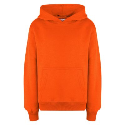 A2Z Trendz Kids Girls Boys Sweat Shirt Tops Designer's Casual Plain Neon Orange Pullover Sweatshirt Fleece Hooded Jumper Coats New Age 2 3 4 5 6 7 8 9 10 11 12 13 Years