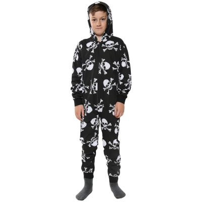 A2Z Trendz Kids Onesie Girls Boys Skull & Cross Bones Print 100% Cotton Playsuit All In One Jumpsuit New Age 1 2 3 4 5 6 7 8 9 10 11 12 Years