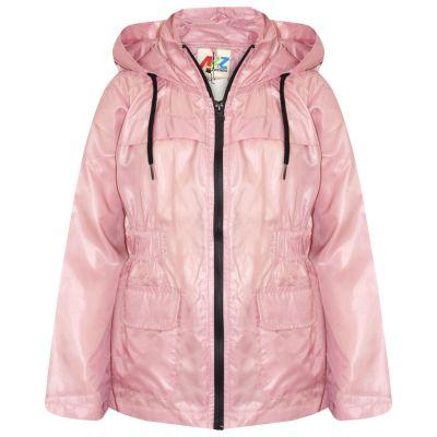 A2Z Trendz Girls Boys Raincoats Jackets Kids Baby Pink Light Weight Waterproof Kagool Hooded Jacket Cagoule Rain Mac Thin Coats New Age 5 6 7 8 9 10 11 12 13 Years