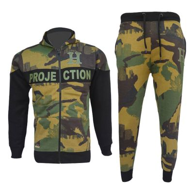 A2Z Trendz Kids Boys Girls Tracksuits HNL Green Camouflage Hoodie Top & Bottom Pullover Gym Wear Jogging Suits Outfit Joggers New Age 7 8 9 10 11 12 13 Years