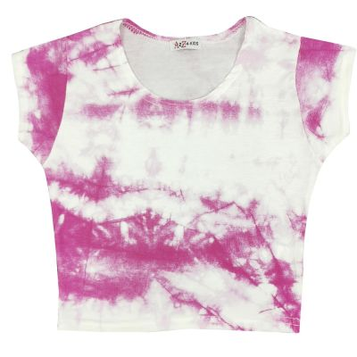 A2Z Trendz Kids Girls Crop Tops Tie Dye Print Pink Stylish Fahsion Trendy T Shirt Tank Top & Tees New Age 5 6 7 8 9 10 11 12 13 Years