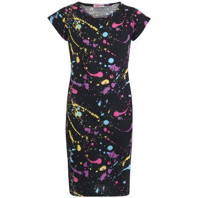 Girls Splash Print Midi Dress