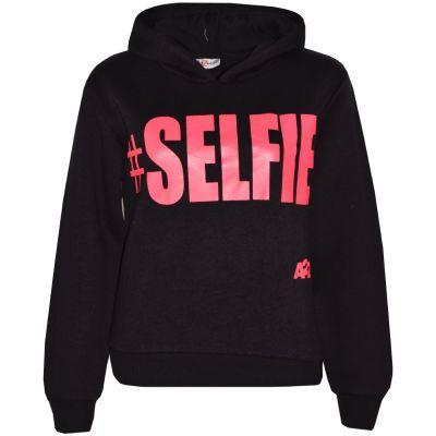 Kids Boys Sweat Shirt Tops #Selfie Hooded Jumper Hoodies New Age 5-13 Year