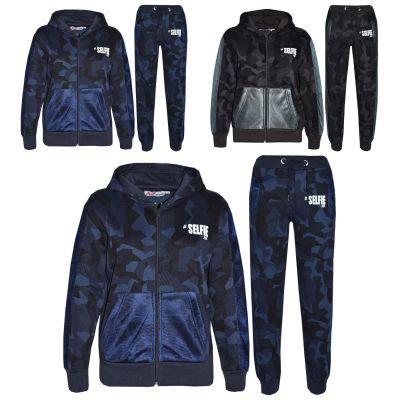 A2Z Trendz Kids Tracksuit Boys Girls Designer's #Selfie Camouflage Print Hoodie & Botom Jogging Suit 7 8 9 10 11 12 13 Years