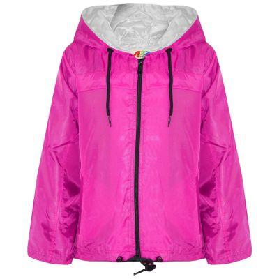 A2Z Trendz Girls Boys Raincoats Jackets Kids Pink Lightweight Kag Mac Waterproof Hooded Jacket Cagoule Rain Mac Age 5 6 7 8 9 10 11 12 13 Years