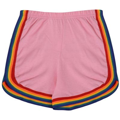 Kids Girls Rainbow Taped Summer Hot Shorts