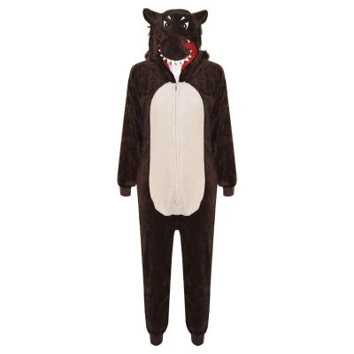 A2Z Trendz Kids Girls Boys Onesie Extra Soft Fluffy Wolf All In One Halloween Costume New Age 7 8 9 10 11 12 13 14 Years