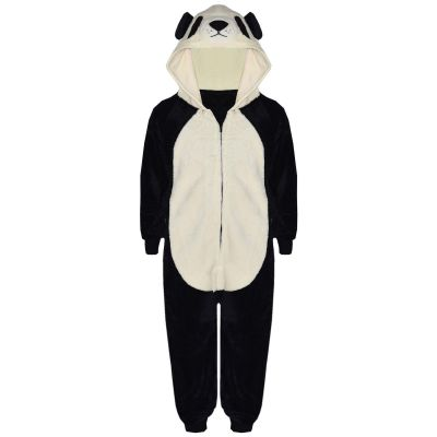 A2Z Trendz Kids Girls Boys Onesie Extra Soft Fluffy Panda All In One Animal Halloween Costume New Age 7 8 9 10 11 12 13 14 Years