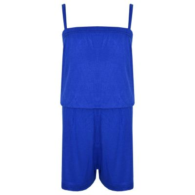 A2Z Trendz Girls Jumpsuit Kids Plain Royal Blue Color Trendy Playsuit All In One Summer Jumpsuits New Age 5 6 7 8 9 10 11 12 13 Years