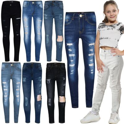 A2Z Trendz Kids Girls Skinny Jeans Designer's Denim Ripped Stretchy Jeggings Pants Fashion Trousers New Age 3 4 5 6 7 8 9 10 11 12 13 Years