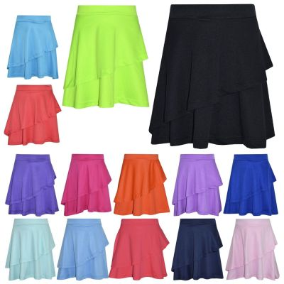 A2Z Trendz Girls Skirt Kids Plain Color Fashion Dance Double Layer Party Skirts New Age 5 6 7 8 9 10 11 12 13 Years