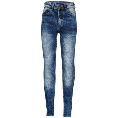 A2Z Trendz Kids Boys Stretchy Jeans Designer's Tie Dye Dark Blue Denim Pants Fashion Slim Fit Trousers New Age 5 6 7 8 9 10 11 12 13 14 Years