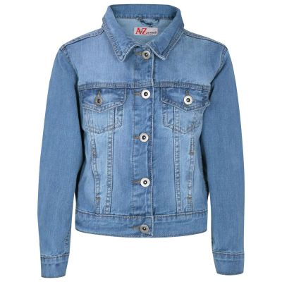A2Z Trendz Kids Girls Jackets Designer's Denim Style Trendy Fashion Light Blue Jeans Jacket Stylish Coats Age 3 4 5 6 7 8 9 10 11 12 13 Years