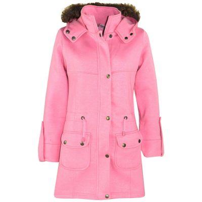A2Z Trendz Kids Girls Coat Baby Pink Fleece Parka Jacket Faux Fur Hooded Long Fashion Winter Coats Age 5 6 7 8 9 10 11 12 13 Years