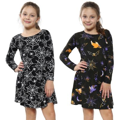 A2Z Trendz Girls Swing Dress Kids Xmas Party Dresses Halloween Costume New Age 3 4 5 6 7 8 9 10 11 12 13 Years