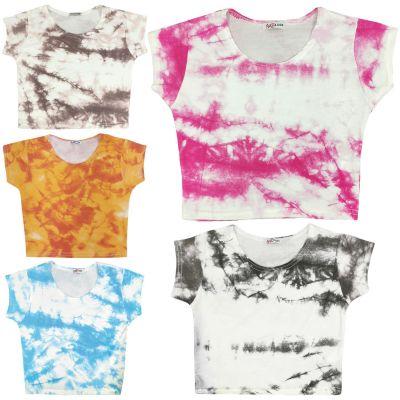 A2Z Trendz Kids Girls Crop Tops Tie Dye Print Stylish Fahsion Trendy T Shirt Tank Top & Tees New Age 5 6 7 8 9 10 11 12 13 Years