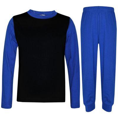 A2Z Trendz Kids Girls Boys Pyjamas Designer's Contrast Royal Blue Color Plain Stylish Pajamas Nightwear Pjs New Age 2 3 4 5 6 7 8 9 10 11 12 13 Years