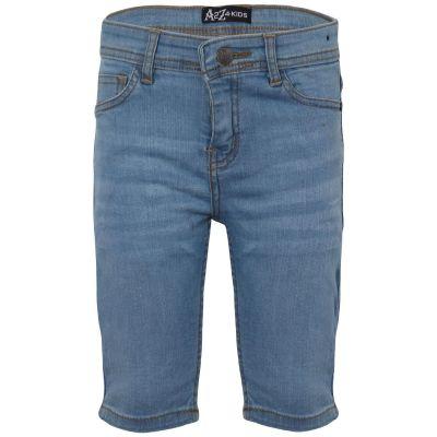 A2Z Trendz Boys Chino Bermuda Skinny Jeans Pants - Shorts Denim S04 Light Blue 5-6