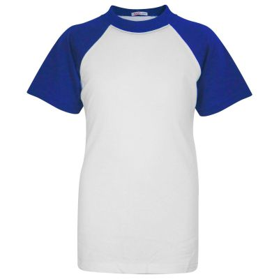 A2Z Trendz Kids Boys Girls Royal T Shirts Designer's 100% Cotton Plain Baseball Short Raglan Sleeves Team Sports Tee Soft Feel Casual T-Shirts New Age 2 3 4 5 6 7 8 9 10 11 12 13