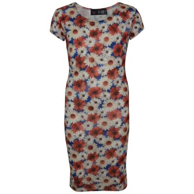 A2Z Trendz Gilrs Dress Kids Daisy Floral Print Bodycon Stylish Trendy Fashion Midi Dresses Top Age 7 8 9 10 11 12 13 Years