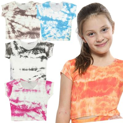 A2Z Trendz Kids Girls Crop Tops Tie Dye Print Stylish Fahsion Trendy T Shirt Tank Top & Tees New Age 5 6 7 8 9 10 11 12 13 Years
