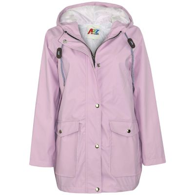 A2Z Trendz Kids Girls Boys PU Raincoat Jackets Designer's Lilac Windbreaker Waterproof Cagoule Hooded Rainmac Shower Resistant Coats Age 5 6 7 8 9 10 11 12 13 Years
