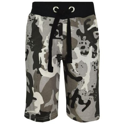 A2Z Trendz Kids Shorts Girls Boys Designer's  Charcoal Camouflage Print Cotton Chino Shorts Casual Knee Length Half Pant Age 5-13 Years