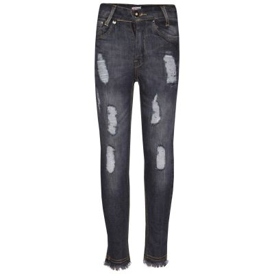 A2Z Trendz Girls Skinny Jeans Kids Designer's Black Denim Ripped Stretchy Rough Pants Fashion Frayed Jeggings Distressed Trousers Age 5 6 7 8 9 10 11 12 13 Years