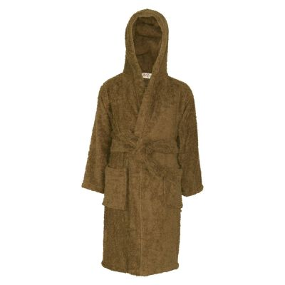 A2Z Trendz Kids Girls Boys Towel Bathrobe 100% Cotton Brown Hooded Terry Towelling Luxury Robes Dressing Gown Loungewear Age 2 3 4 5 6 7 8 9 10 11 12 13 Years