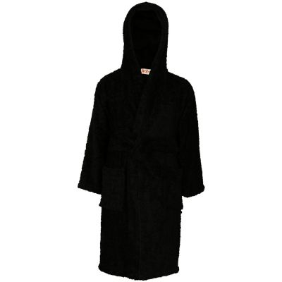 A2Z Trendz Kids Girls Boys Towel Bathrobe 100% Cotton Black Hooded Terry Towelling Luxury Robes Dressing Gown Loungewear Age 2 3 4 5 6 7 8 9 10 11 12 13 Years