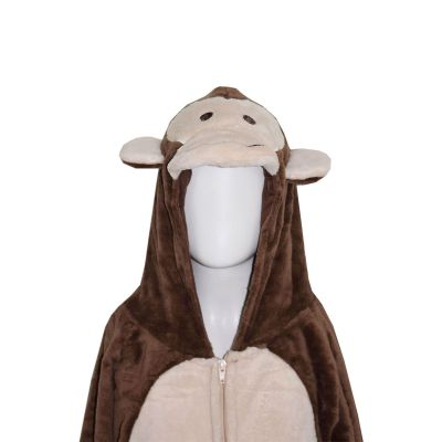 A2Z Trendz Kids Girls Boys Onesie Extra Soft Fluffy Monkey All In One Halloween Costume New Age 7 8 9 10 11 12 13 14 Years