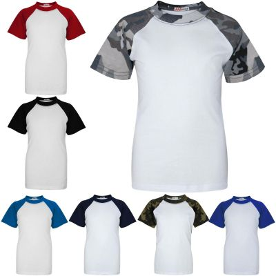 A2Z Trendz Kids Boys Girls T Shirts Designer's 100% Cotton Plain Baseball Short Raglan Sleeves Team Sports Tee Soft Feel Casual T-Shirts New Age 2 3 4 5 6 7 8 9 10 11 12 13 Years