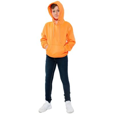 A2Z Trendz Kids Girls Boys Sweat Shirt Tops Casual Plain Pullover Sweatshirt - Plain Sweat Hoodie Neon Orange 9-10