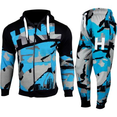 A2Z Trendz Kids Boys Girls Tracksuit HNL Camouflage Blue Hoodie & Bottom Pullover Fashion Sports Wear Jogging Suit Joggers New Age 7 8 9 10 11 12 13 Years