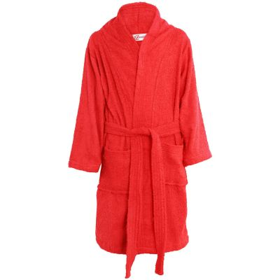 Girls Boys Red Towel Bathrobe