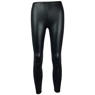 Girls Wet Look Legging Kids Shiny PVC Dance Leggings New Age 3 4 5 6 7 8 9 10 11 12 13 Years