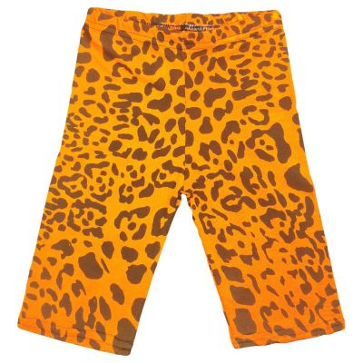 A2Z Trendz Kids Girls Cycling Shorts Leopard Print N.Orange Gym Dance Running Trendy Fashion Summer Short Knee Length Half Pant New Age 5 6 7 8 9 10 11 12 13 Years