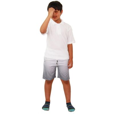 A2Z Trendz Kids Boys Girls Shorts Two Tone Grey Chino Summer Short Casual Knee Length Half Pant New Age 3 4 5 6 7 8 9 10 11 12 13 Years
