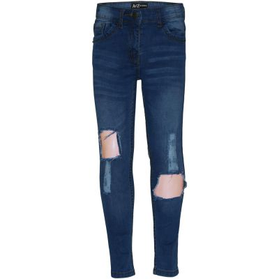 A2Z Trendz Kids Girls Skinny Ripped Jeans Designer's Md Blue Denim Trendy Fashion Stretchy Jeggings Pants Stylish Slim Fit Trousers New Age 3 4 5 6 7 8 9 10 11 12 13 Years