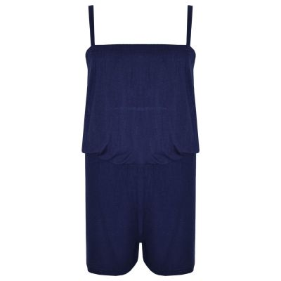 A2Z Trendz Girls Jumpsuit Kids Plain Navy Color Trendy Playsuit All In One Summer Jumpsuits New Age 5 6 7 8 9 10 11 12 13 Years