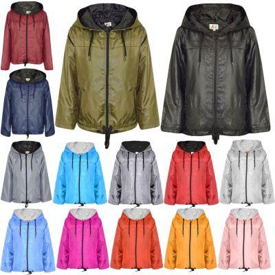A2Z Trendz Girls Boys Raincoats Jackets Kids Lightweight Kag Mac Waterproof Hooded Jacket Cagoule Rain Mac Age 5 6 7 8 9 10 11 12 13 Years